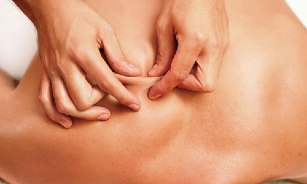 Skin rolling releases fascial restrictions over the back