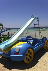 Hydrobeetle water slide